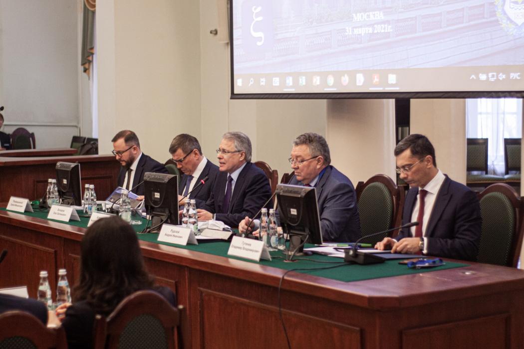 Рукавишников Бочаров Александров Рудской Гутенев Президиум заседания Координационного совета
